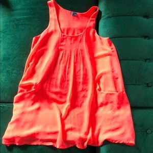 Neon Pink Dress with Pockets